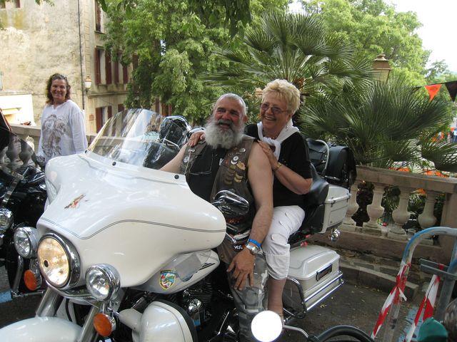 mamiekéké à Grimaud avec les bikers H.Davidson