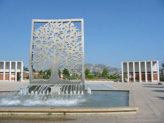 fontaine parc du centenaire marseille